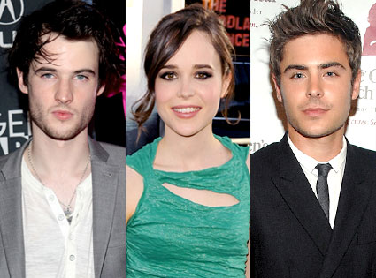 Tom Sturridge, Ellen Page, Zac Efron