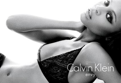 Zoe Saldana, Calvin Klein Ad