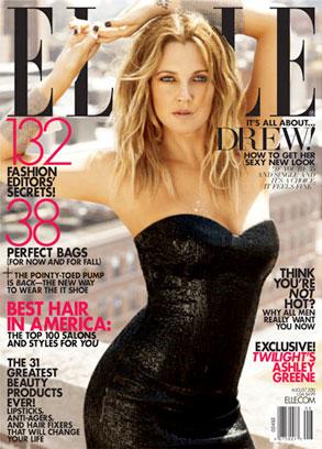 Drew Barrymore, Elle Magazine