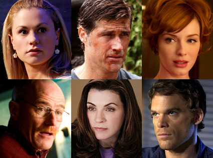 Breaking Bad, Dexter, The Good Wife, Lost, Mad Men, True Bood