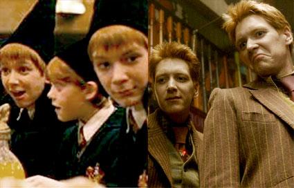 Oliver Phelps, James Phelps, Harry Potter, Sorcerer's Stone, Half-Blooded Prince