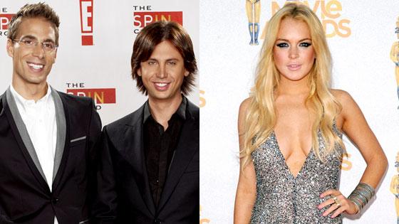 Simon Huck, Jonathan Cheban, Lindsay Lohan