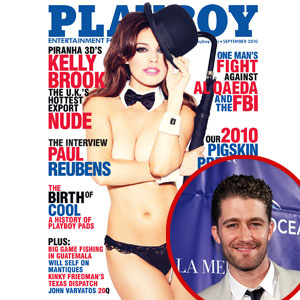 Kelly Brook,  Playboy, Matthew Morrison