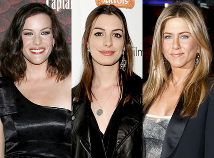 Liv Tyler, Anne Hathaway, Jennifer Aniston
