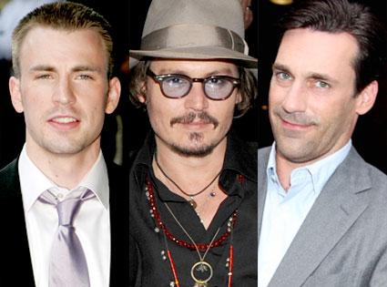 Chris Evans, Johnny Depp, Jon Hamm