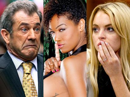 Mel Gibson, Montana Fishburne, Lindsay Lohan