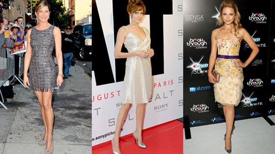 Jennifer Aniston, Angelina Jolie, Dianna Agron