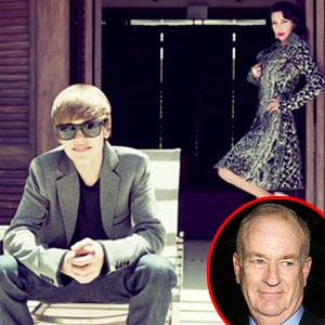 Kim Kardashian, Justin Bieber, Bill O'Reilly