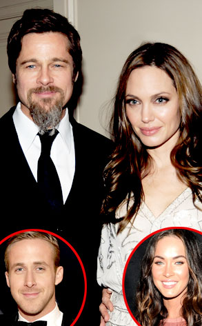 Angelina Jolie, Brad Pitt, Megan Fox, Ryan Gosling