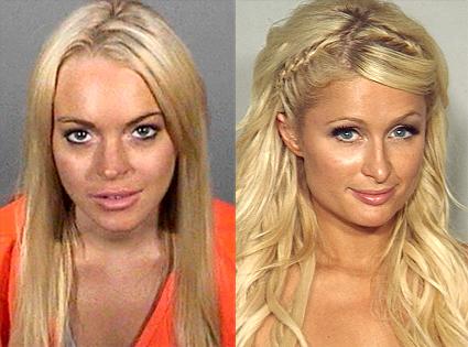 Lindsay Lohan, Paris Hilton, Mugshot