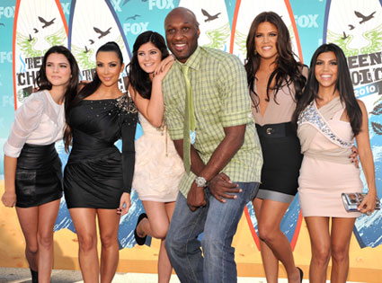 Kendall Jenner, Kim Kardashian, Kylie Jenner, Lamar Odom, Khloe Kardashian and Kourtney Kardashian