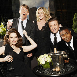 30 Rock, Tina Fey, Jack McBrayer, Jane Krakowski, Alec Baldwin, Tracy Morgan