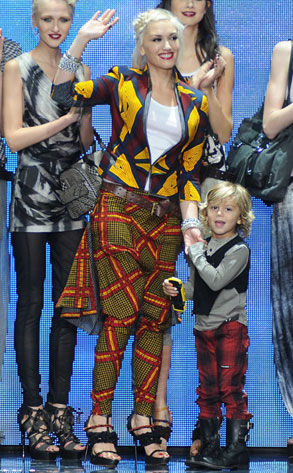 Gwen Stefani, Kingston Rossdale, LAMB Models