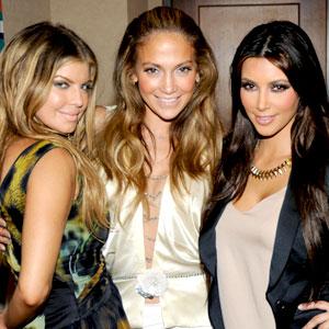 Fergie, Jennifer Lopez, Kim Kardashian