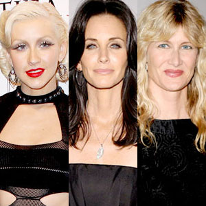 Christina Aguilera, Courteney Cox, Laura Dern