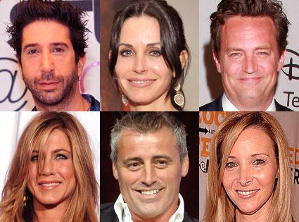 David Schwimmer, Courteny Cox, Lisa Kudrow, Jennifer Aniston, Matt LBlanc, Matt Perry