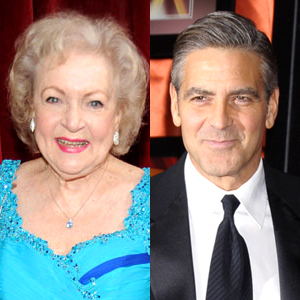 Betty White, George Clooney