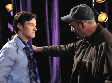 Mike O'Malley, Chris Colfer, Glee