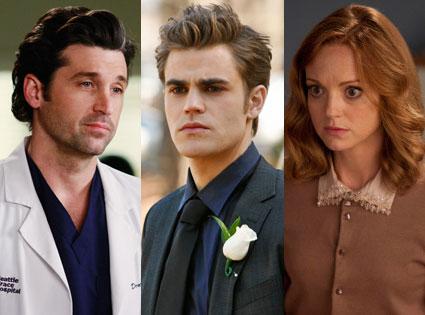 Vampire Diaries, Glee, Grey's Anatomy