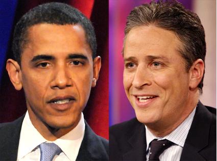 President Barack Obama, Jon Stewart