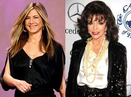 Joan Collins, Jennifer Aniston