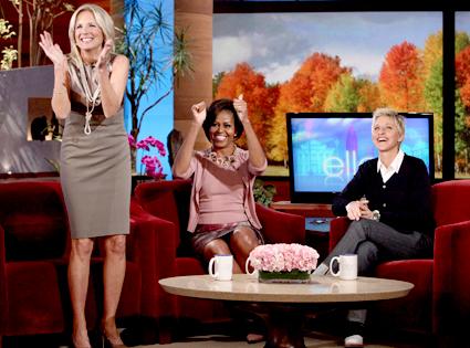 Michelle Obama, Jill Biden, Ellen DeGeneres