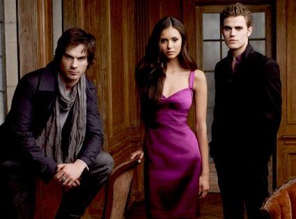 Elena Dobrev, Paul Wesley, Ian Somerhalder, The Vampire Diaries