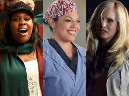 Amber Riley, Glee Sara Ramirez, Grey's Anatomy, Candice Accola, Vampire Diaries