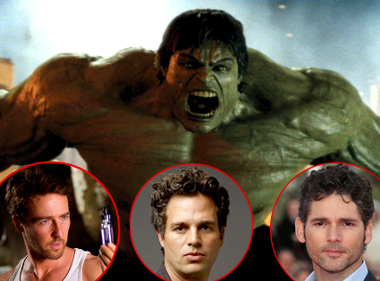 Ed Norton, The Incredible Hulk, Eric Bana, Mark Ruffalo