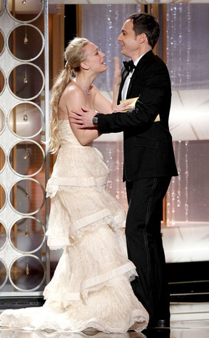 Kaley Cuoco Amp Jim Parsons From 2011 Golden Globes Big