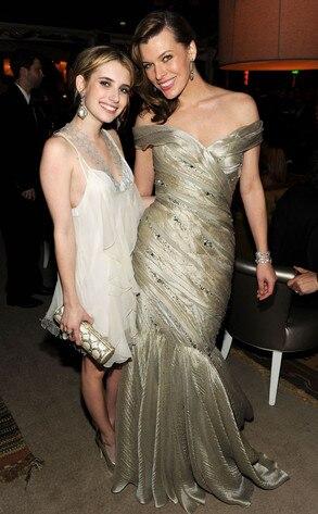 Emma Roberts,  Milla Jovovich