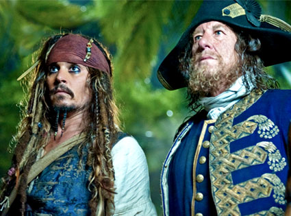 Johnny Depp, Geoffrey Rush, Pirates of the Caribbean 4: On Stranger Tides
