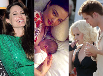 Angelina Jolie, Miranda Kerr, Flynn Bloom, Reese Witherspoon, Robert Pattinson