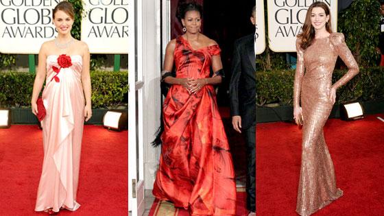 Natalie Portman, Michelle Obama, Anne Hathaway