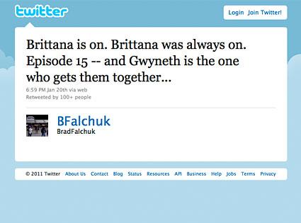 Brad Falchuk, Twitter