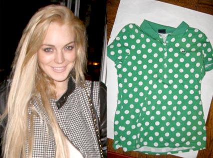 Lindsay Lohan, Ebay Shirt