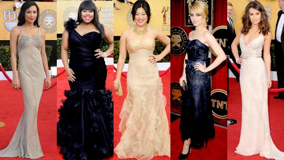 Naya Rivera, Jenna Ushkowitz, Amber Riley, Dianna Agron, Lea Michele