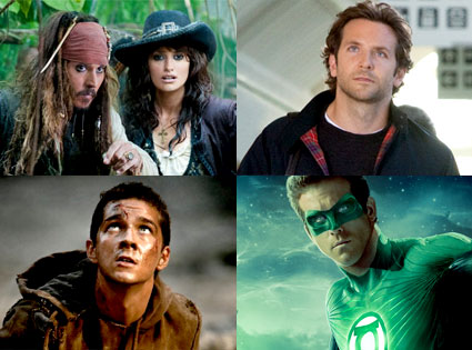 Pirates of the Caribbean, Hangover 2, Transformers, Green Lantern