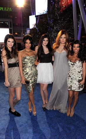 Kendall Jenner, Kim Kardashian, Kylie Jenner, Khloe Kardashian Odom, Frazer Harrison/Getty Images for PCA Kourtney Kardashian