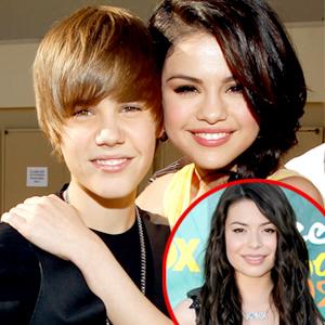 Justin Bieber, Selena Gomez, Miranda Cosgrove