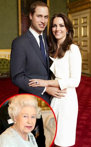 Kate Middleton, Prince William, Queen Elizabeth II