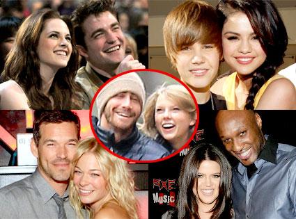 Robert Pattinson, Kristen Stewart, Selena Gomez, Justin Bieber, LeAnn Rimes, Eddie Cibrian, Khloe Kardashian Odom, Lamar Odom, Taylor Swift, Jake Gyllenhaal