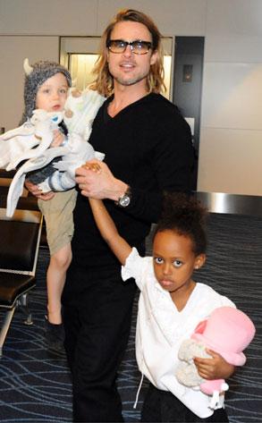 Brad Pitt , Knox Jolie-Pitt,  Zahara Jolie-Pitt