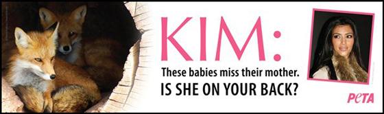 Kim Kardashian, PETA ad