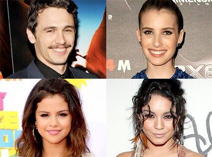 James Franco, Emma Roberts, Selena Gomez, Vanessa Hudgens
