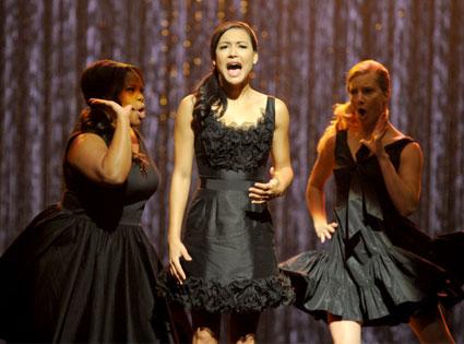 Glee, Amber Riley, Naya Rivera, Heather Morris