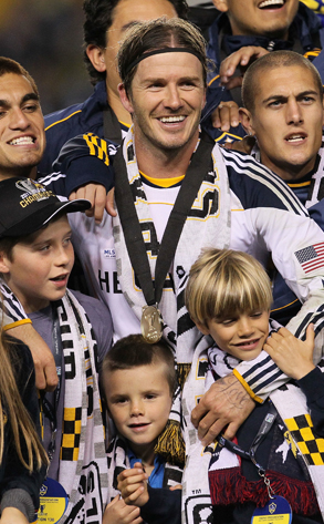 David Beckham, Brooklyn Beckham, Romeo Beckham, Cruz Beckham