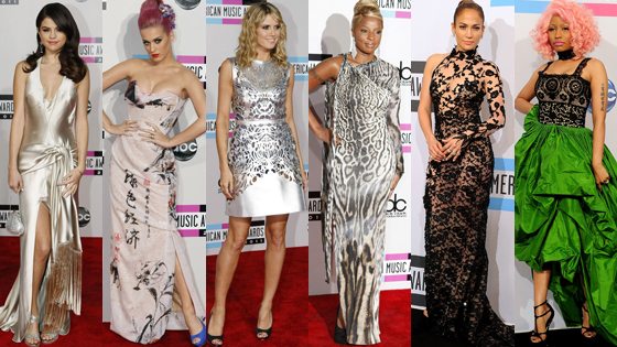 Selena Gomez, Katy Perry, Heidi Klum, Mary J Blige, Jennifer Lopez, Nicki Minaj