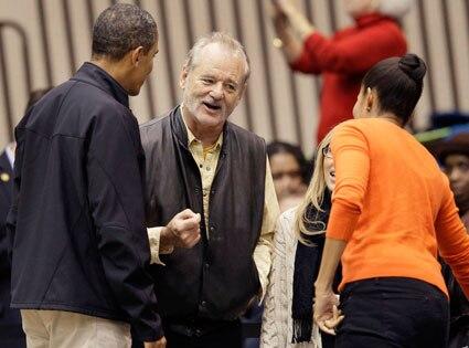 Bill Murray, President Barack Obama, Michelle Obama
