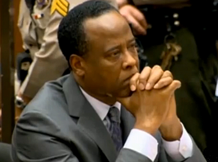 Conrad Murray, Screengrab, trial
